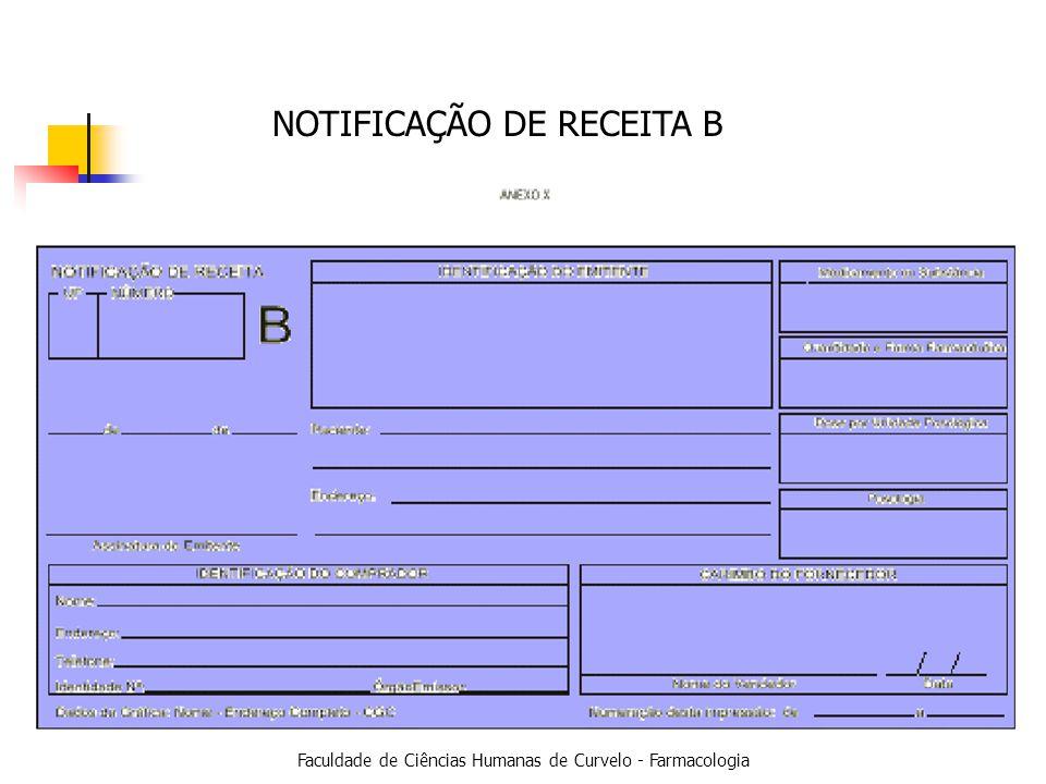 Faculdade de Ciências Humanas de Curvelo - Farmacologia NOTIFICAÇÃO DE RECEITA B