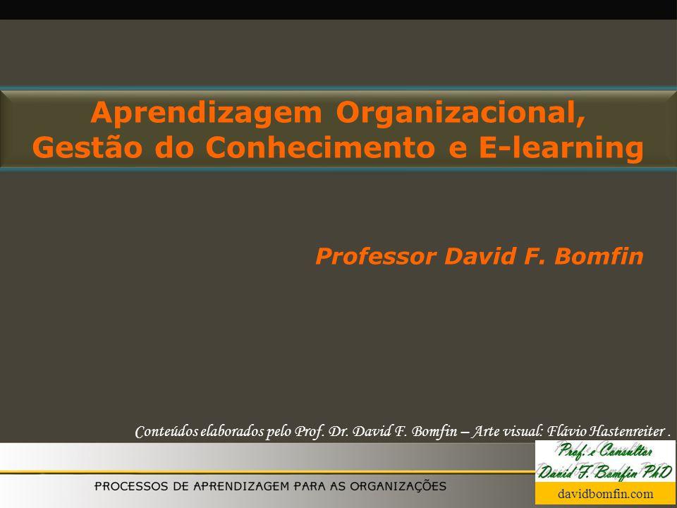 Aprendizagem Organizacional, Gestão do Conhecimento e E-learning Professor David F. Bomfin Conteúdos elaborados pelo Prof. Dr. David F. Bomfin – Arte