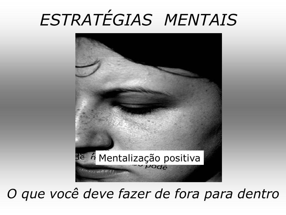 ESTRATÉGIAS MENTAIS O que você deve fazer de fora para dentro Mentalização positiva