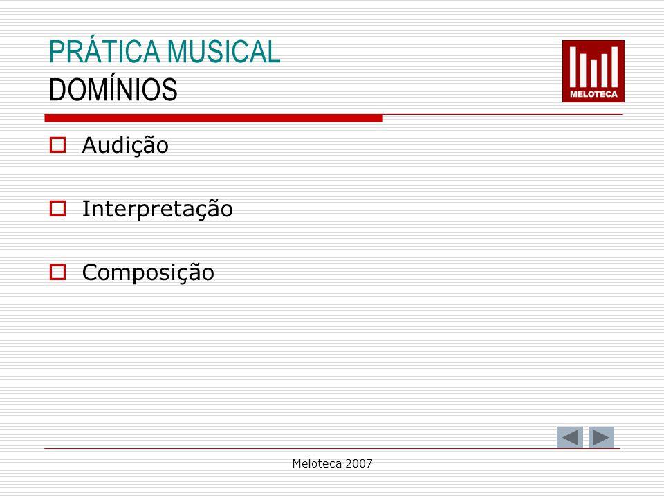 PRÁTICA MUSICAL DOMÍNIOS Audição Interpretação Composição