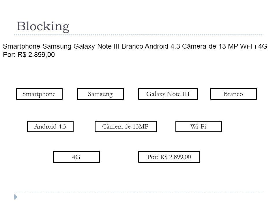 Blocking Smartphone Smartphone Samsung Galaxy Note III Branco Android 4.3 Câmera de 13 MP Wi-Fi 4G Por: R$ 2.899,00 SamsungGalaxy Note IIIBranco Andro