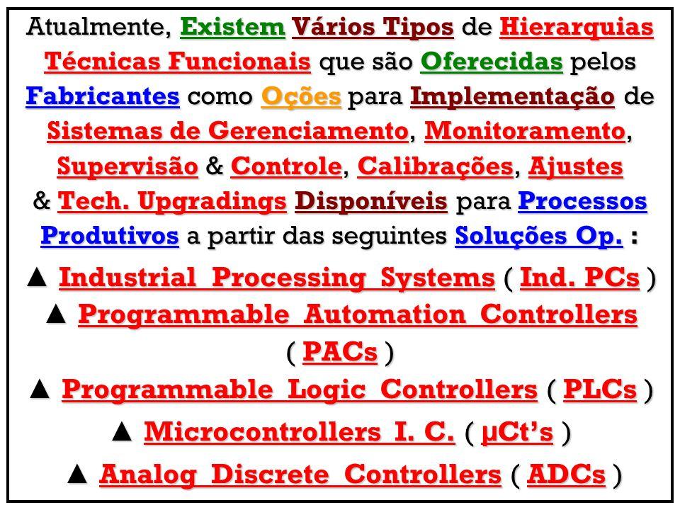 Atualmente, Existem Vários Tipos de Hierarquias Técnicas Funcionais que são Oferecidas pelos Fabricantes como Oções para Implementação de Sistemas de Gerenciamento, Monitoramento, Supervisão & Controle, Calibrações, Ajustes & Tech.
