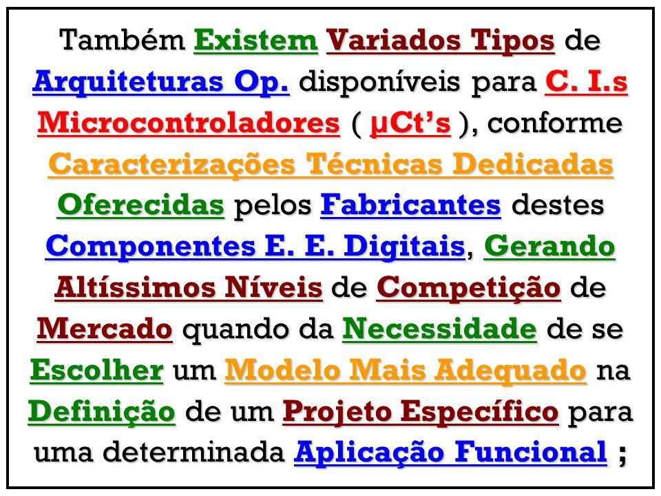 Também Existem Variados Tipos de Arquiteturas Op.disponíveis para C.