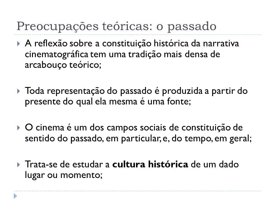 Preocupações teóricas: o passado A reflexão sobre a constituição histórica da narrativa cinematográfica tem uma tradição mais densa de arcabouço teóri