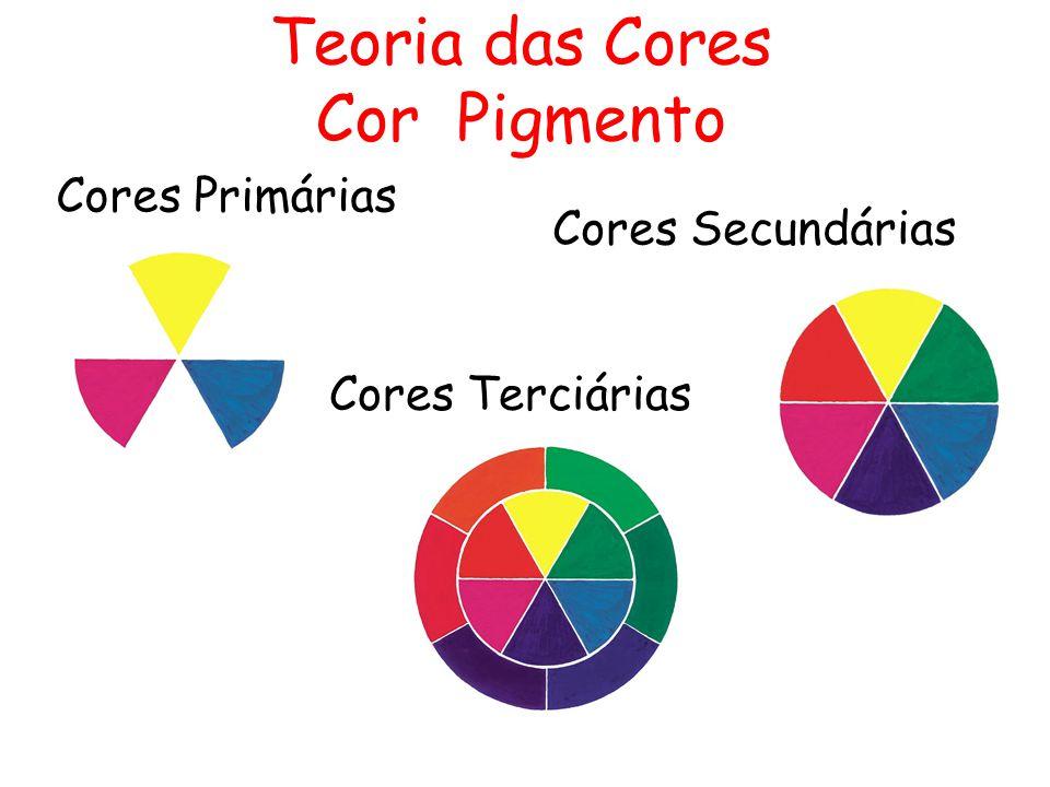 Teoria das Cores Cor Pigmento Cores Primárias Cores Secundárias Cores Terciárias