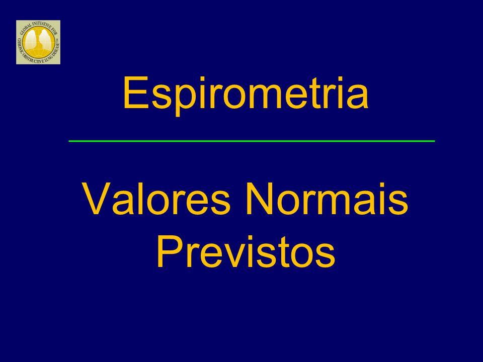 Espirometria Valores Normais Previstos