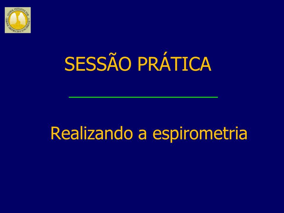 SESSÃO PRÁTICA Realizando a espirometria