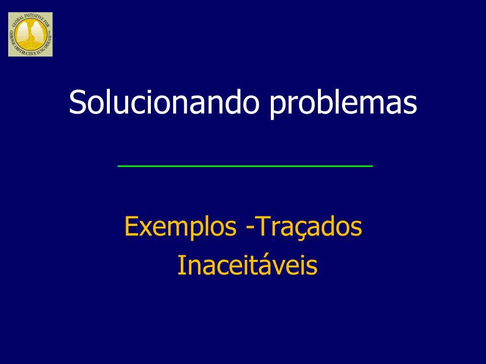 Solucionando problemas Exemplos -Traçados Inaceitáveis