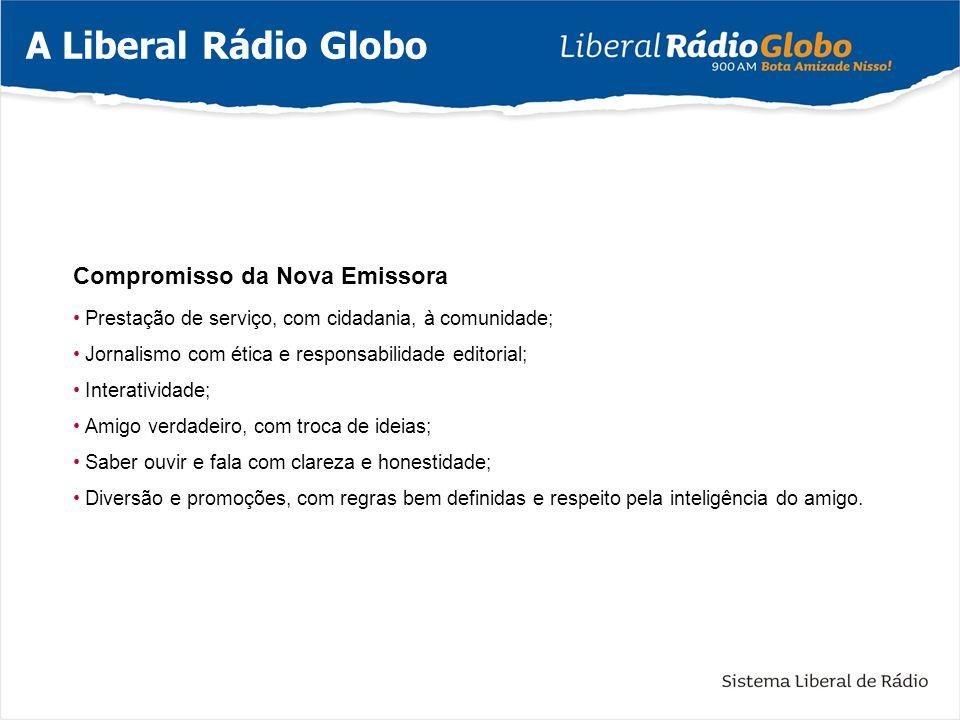 Atualmente, a Liberal Rádio Globo está em operação com novo transmissor (Reserva) de fabricação Americana da marca BE - Broadcast Eletronic, na potência de 10 KW e na nova frequência de 900kHz.