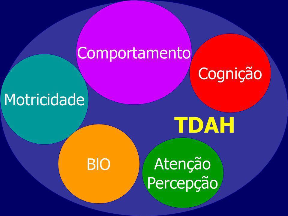 TDAH Cognição Atenção Percepção Motricidade Comportamento BlO