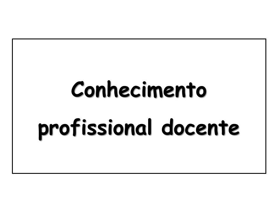 Conhecimento científico e cultural Conhecimento pedagógico PROFESSORESPROFESSORES Conhecimento profissional docente