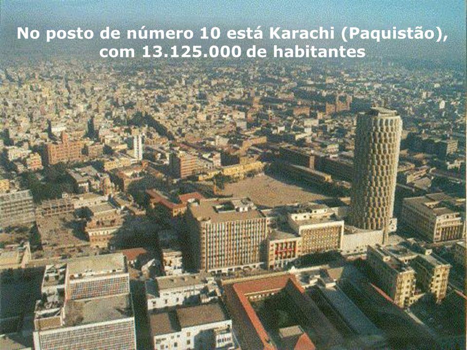 A número 11 é Buenos Aires, Argentina, que chega aos 13.074.000 de habitantes A número 11 é Buenos Aires, Argentina, que chega aos 13.074.000 de habit