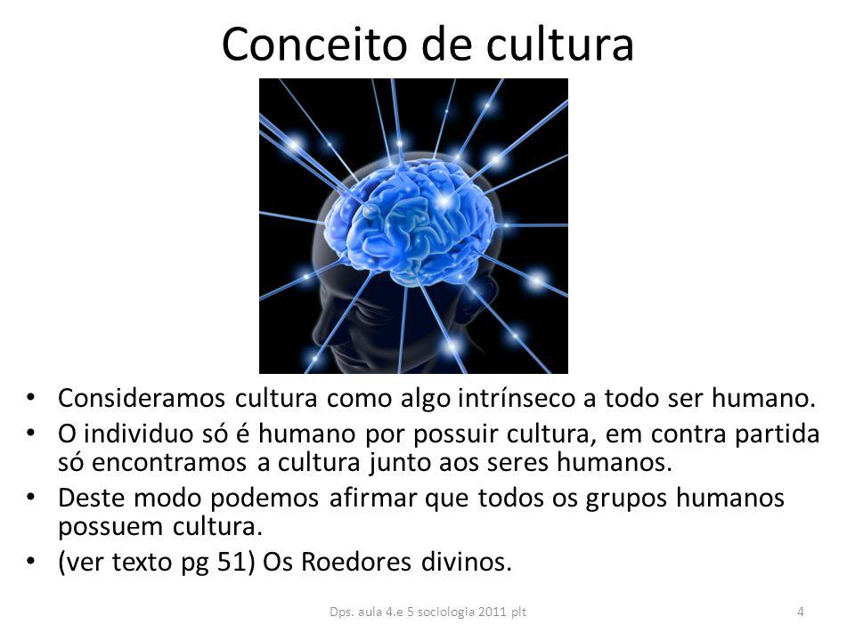 Conceito de cultura Consideramos cultura como algo intrínseco a todo ser humano.