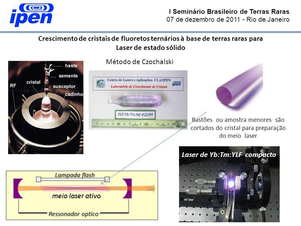 Crescimento de cristais de fluoretos ternários à base de terras raras para Laser de estado sólido Método de Czochalski Ressonador optico Lampada flash