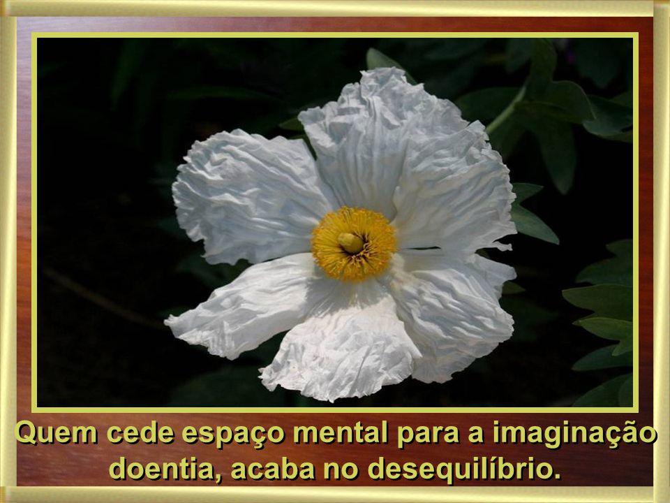 Quem cede espaço mental para a imaginação doentia, acaba no desequilíbrio.