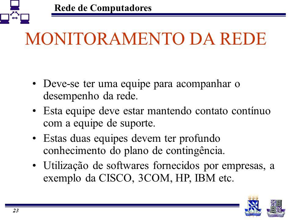 Rede de Computadores 22 PLANO PARA EVOLUÇÃO Surgimento de novos requisitos e aplicações representaria uma volta no ciclo de Projeto de Redes.
