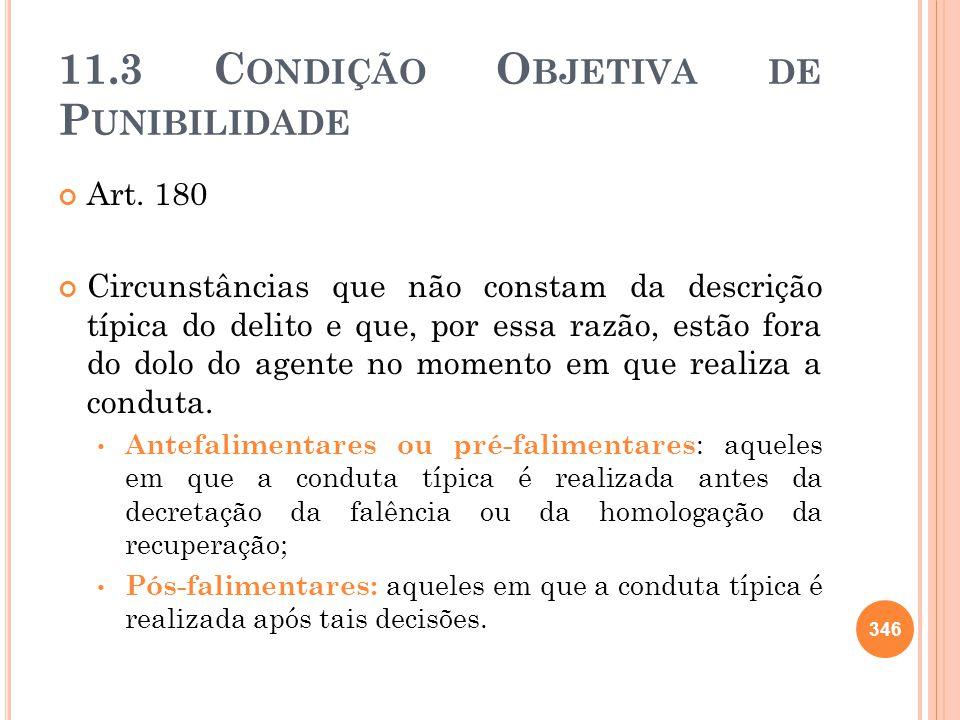 11.3 C ONDIÇÃO O BJETIVA DE P UNIBILIDADE Art. 180 Circunstâncias que não constam da descrição típica do delito e que, por essa razão, estão fora do d