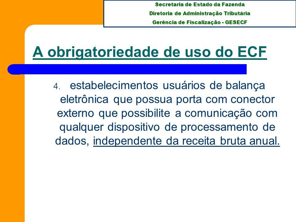Secretaria de Estado da Fazenda Diretoria de Administração Tributária Gerência de Fiscalização - GESECF APÓS INÚMERAS REUNIÕES, NAS QUAIS TODOS TIVERAM A OPORTUNIDADE DE SUGERIR E CRITICAR, DENTRO DE UMA DISCUSSÃO DE ALTÍSSIMO NÍVEL, SURGE O PAF-ECF, APROVADO DA SEGUINTE FORMA: PAF-ECF