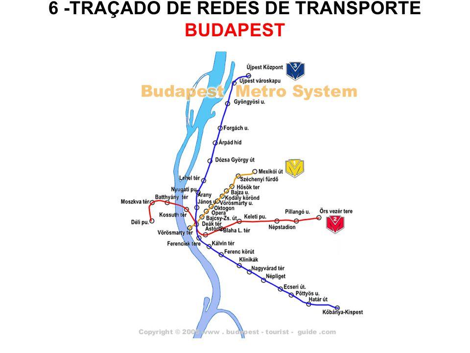 6 -TRAÇADO DE REDES DE TRANSPORTE BUDAPEST