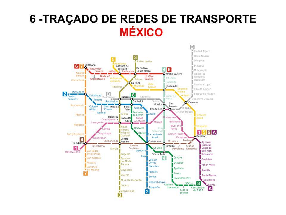 6 -TRAÇADO DE REDES DE TRANSPORTE MÉXICO