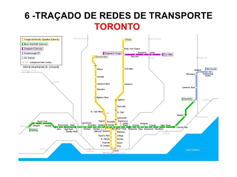 6 -TRAÇADO DE REDES DE TRANSPORTE TORONTO
