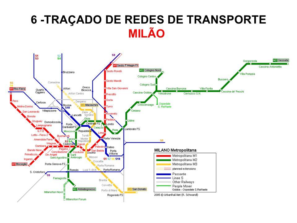 6 -TRAÇADO DE REDES DE TRANSPORTE MILÃO
