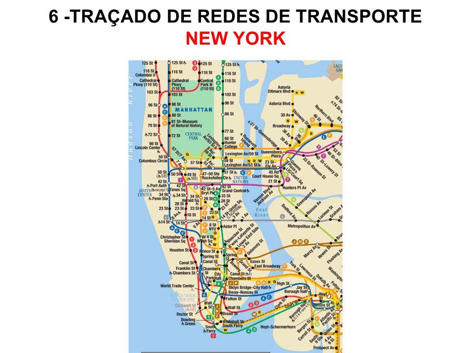 6 -TRAÇADO DE REDES DE TRANSPORTE NEW YORK