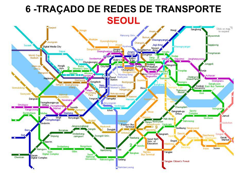 6 -TRAÇADO DE REDES DE TRANSPORTE SEOUL