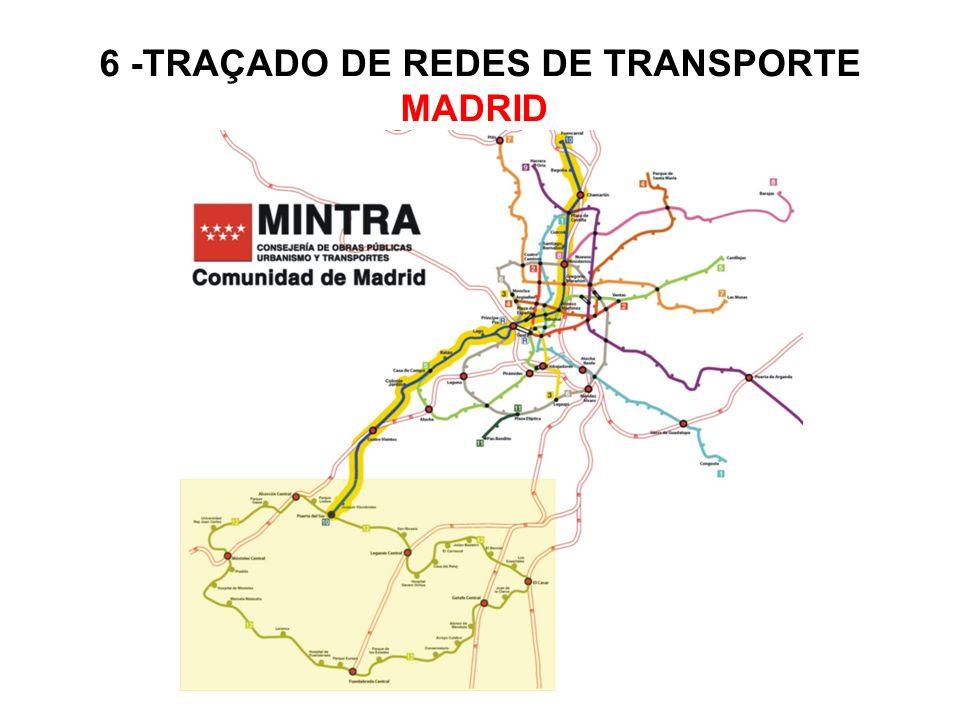 6 -TRAÇADO DE REDES DE TRANSPORTE MADRID