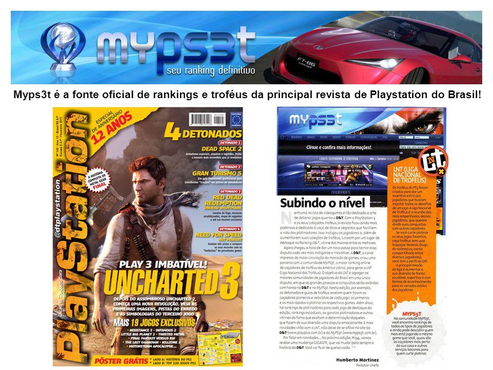 Myps3t é a fonte oficial de rankings e troféus da principal revista de Playstation do Brasil!