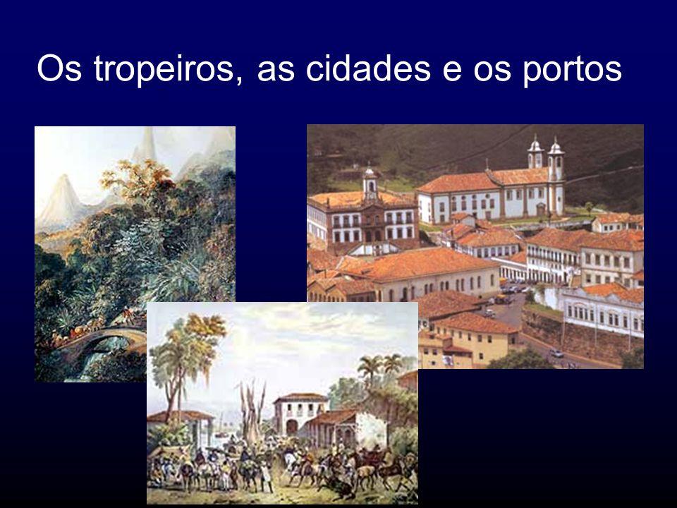 Os tropeiros, as cidades e os portos