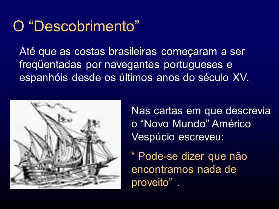 O Descobrimento Nas cartas em que descrevia o Novo Mundo Américo Vespúcio escreveu: Pode-se dizer que não encontramos nada de proveito.