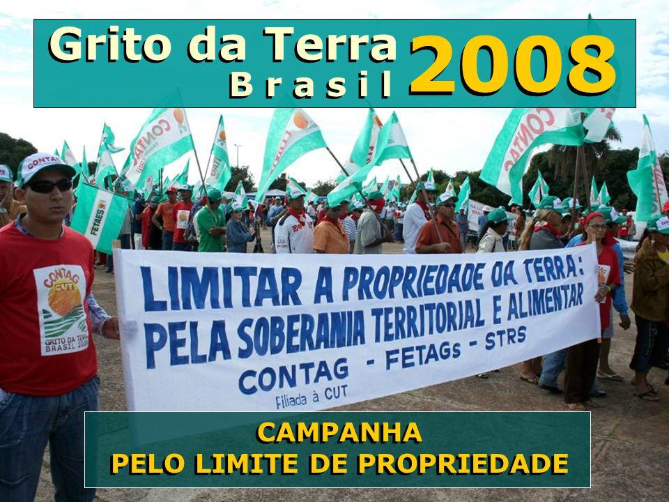 2008 CAMPANHA PELO LIMITE DE PROPRIEDADE Grito da Terra B r a s i l