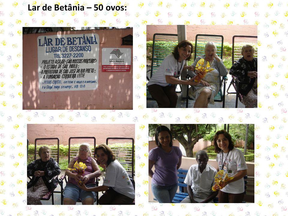Lar de Betânia – 50 ovos: