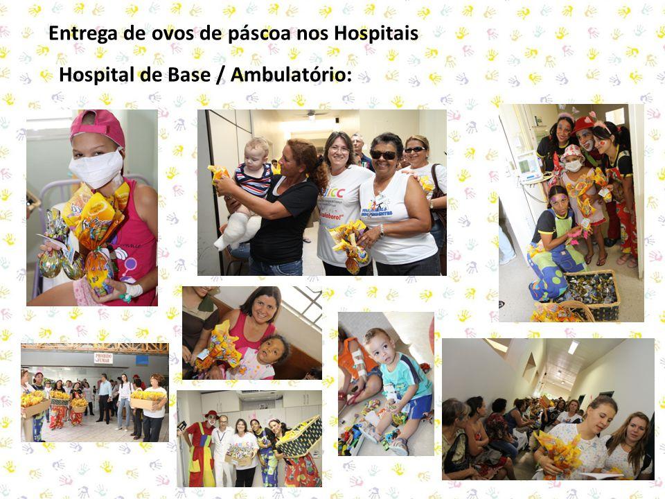 Entrega de ovos de páscoa nos Hospitais Hospital de Base / Ambulatório: