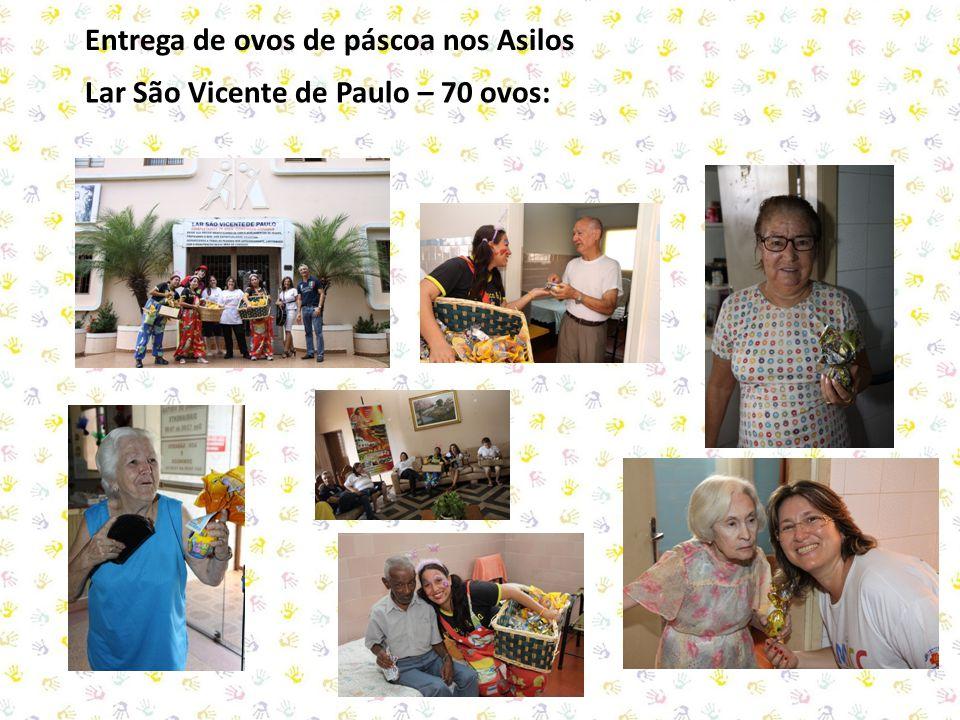 Entrega de ovos de páscoa nos Asilos Lar São Vicente de Paulo – 70 ovos: