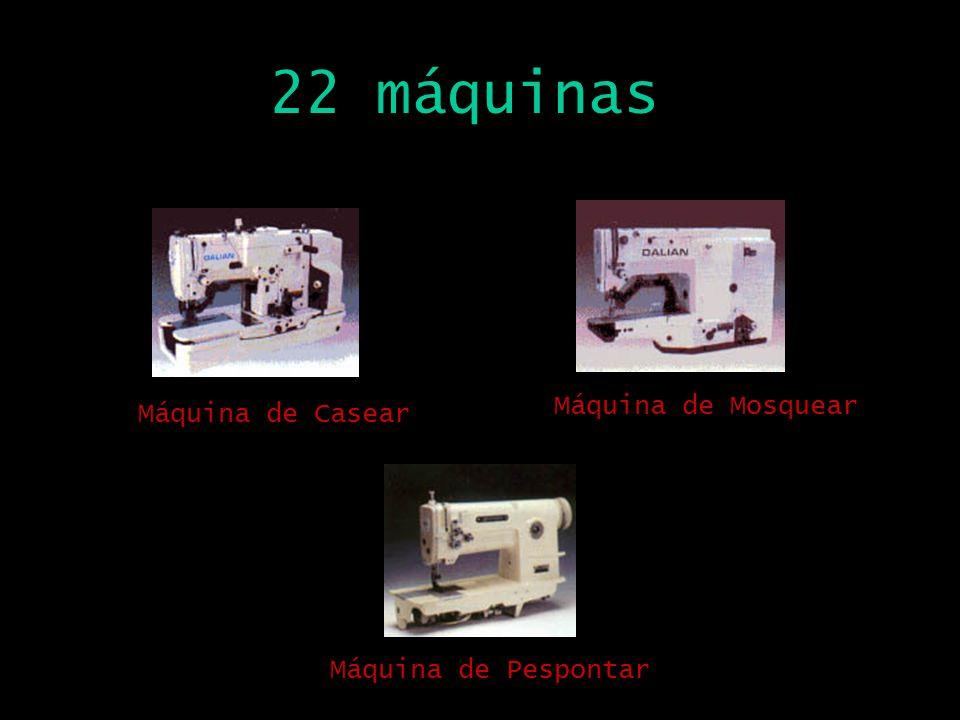 22 máquinas Máquina de Casear Máquina de Mosquear Máquina de Pespontar