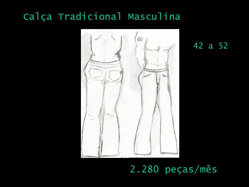 Calça Tradicional Masculina 2 2.280 peças/mês 42 a 52