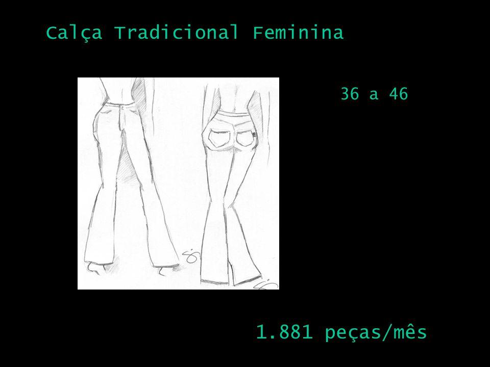 Calça Tradicional Feminina 2 1.881 peças/mês 36 a 46