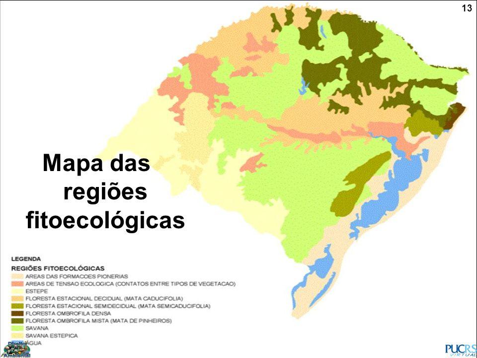 13 Mapa das regiões fitoecológicas