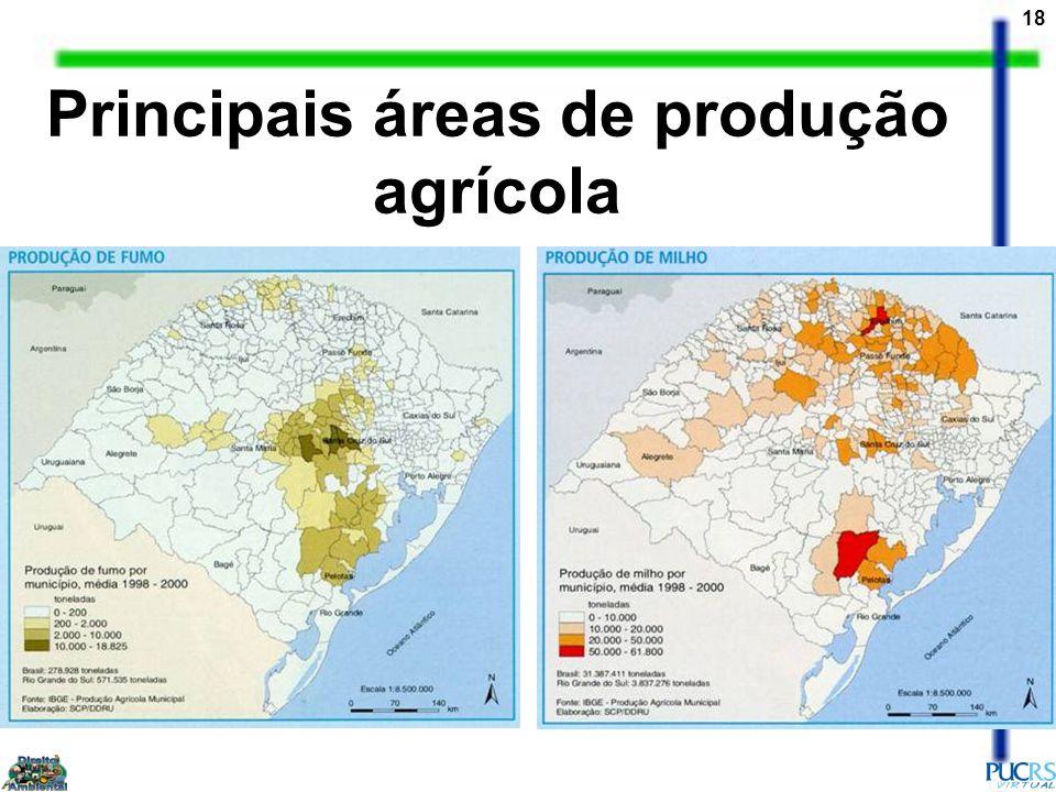 18 Principais áreas de produção agrícola
