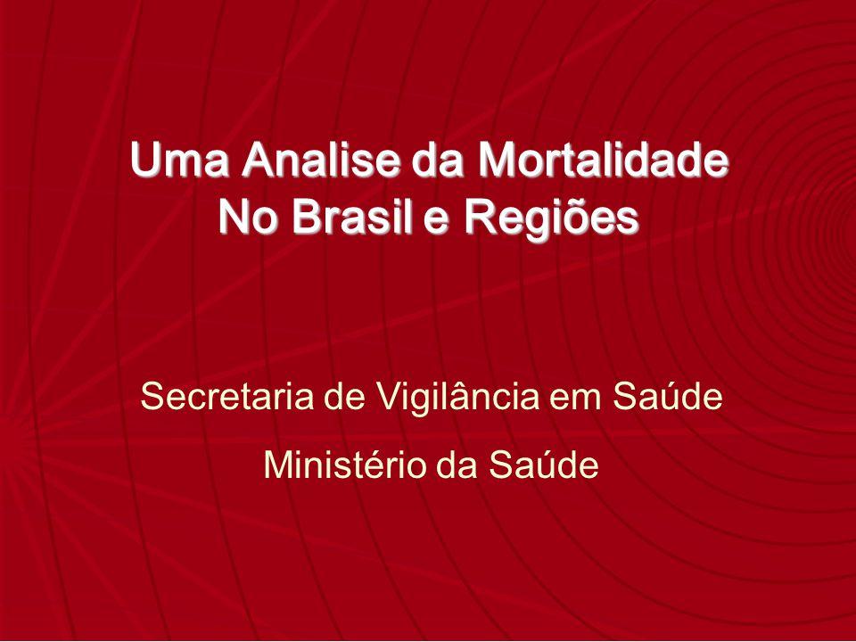 Uma Analise da Mortalidade No Brasil e Regiões Secretaria de Vigilância em Saúde Ministério da Saúde