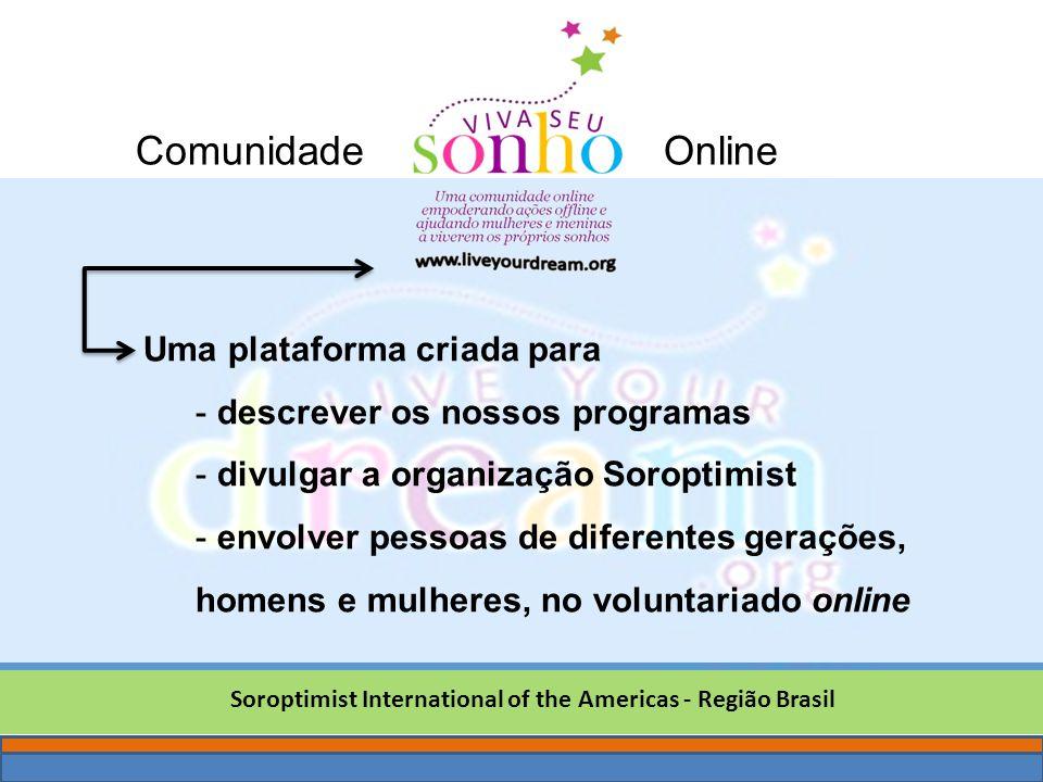 sonho Soroptimist International of the Americas - Região Brasil Uma plataforma criada para - descrever os nossos programas - divulgar a organização So