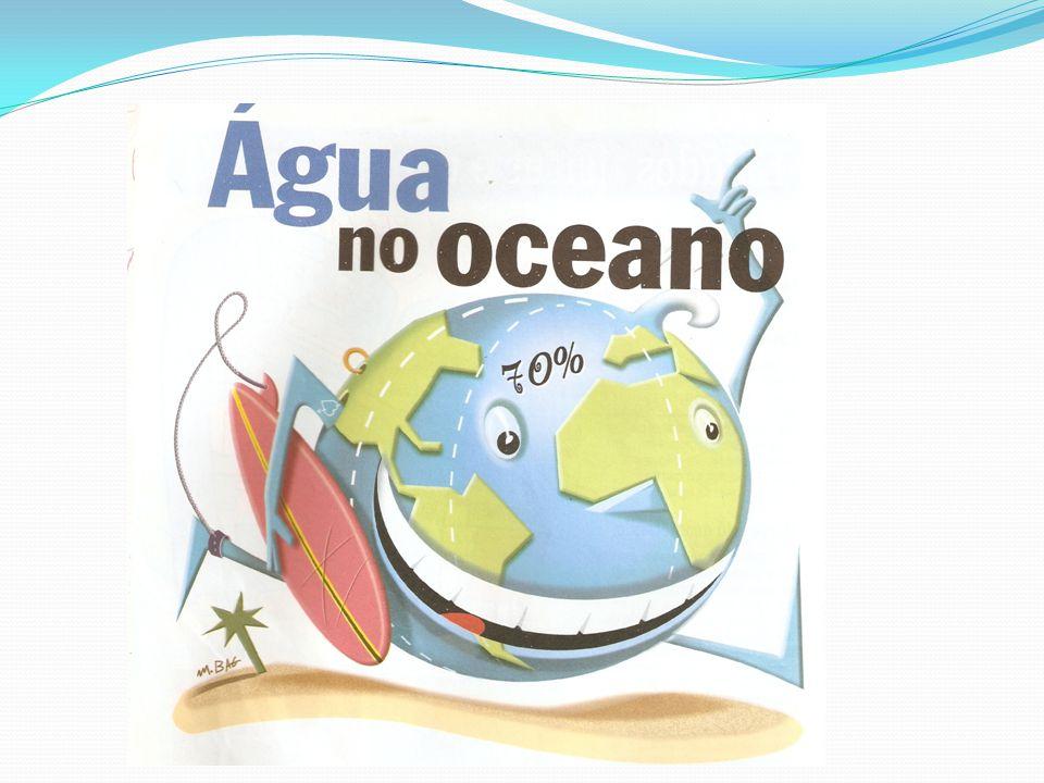 A água é a substância mais comum na superfície da Terra.