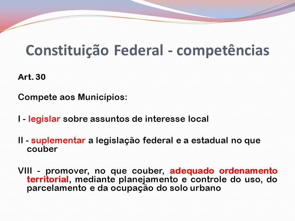 Constituição Federal - competências Art.