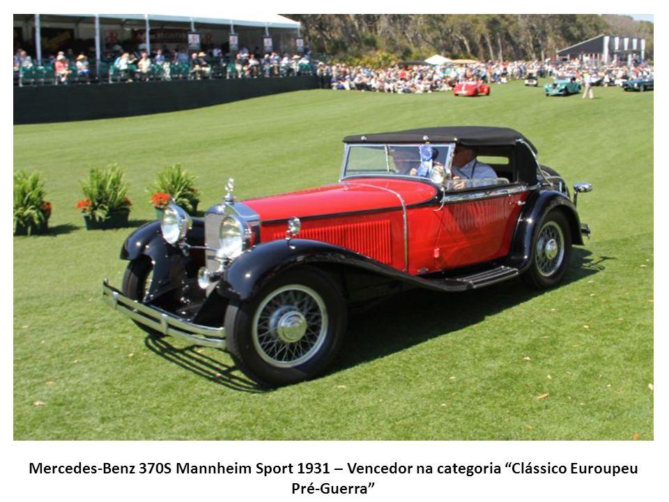 Mercedes-Benz 370S Mannheim Sport 1931 – Vencedor na categoria Clássico Euroupeu Pré-Guerra
