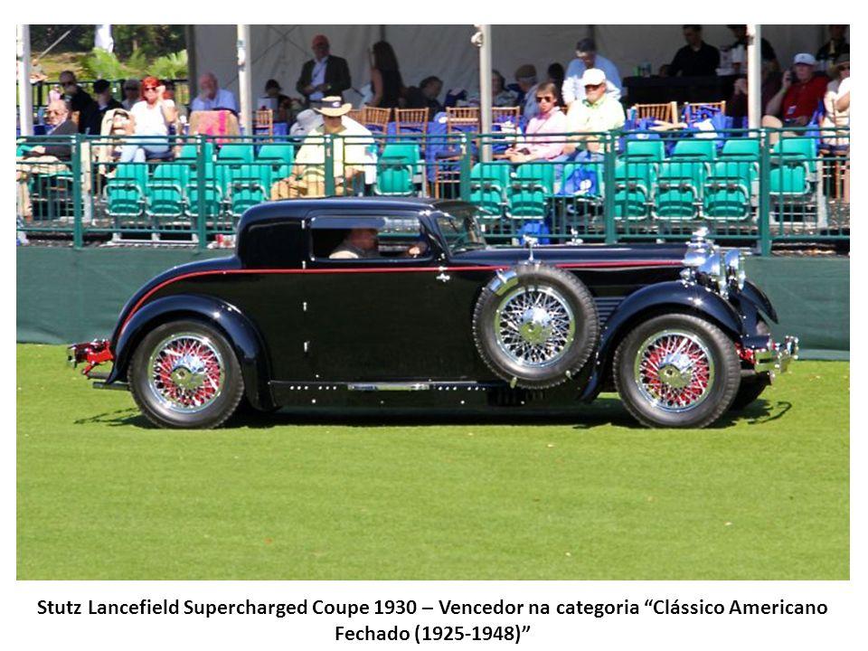 Stutz Lancefield Supercharged Coupe 1930 – Vencedor na categoria Clássico Americano Fechado (1925-1948)