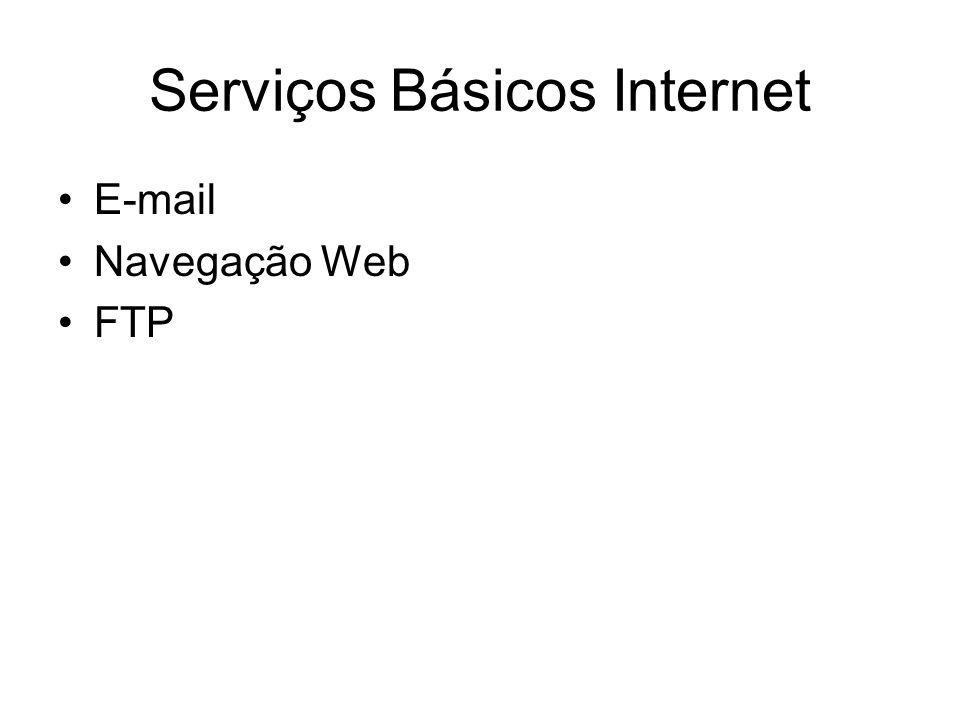 Serviços Básicos Internet E-mail Navegação Web FTP