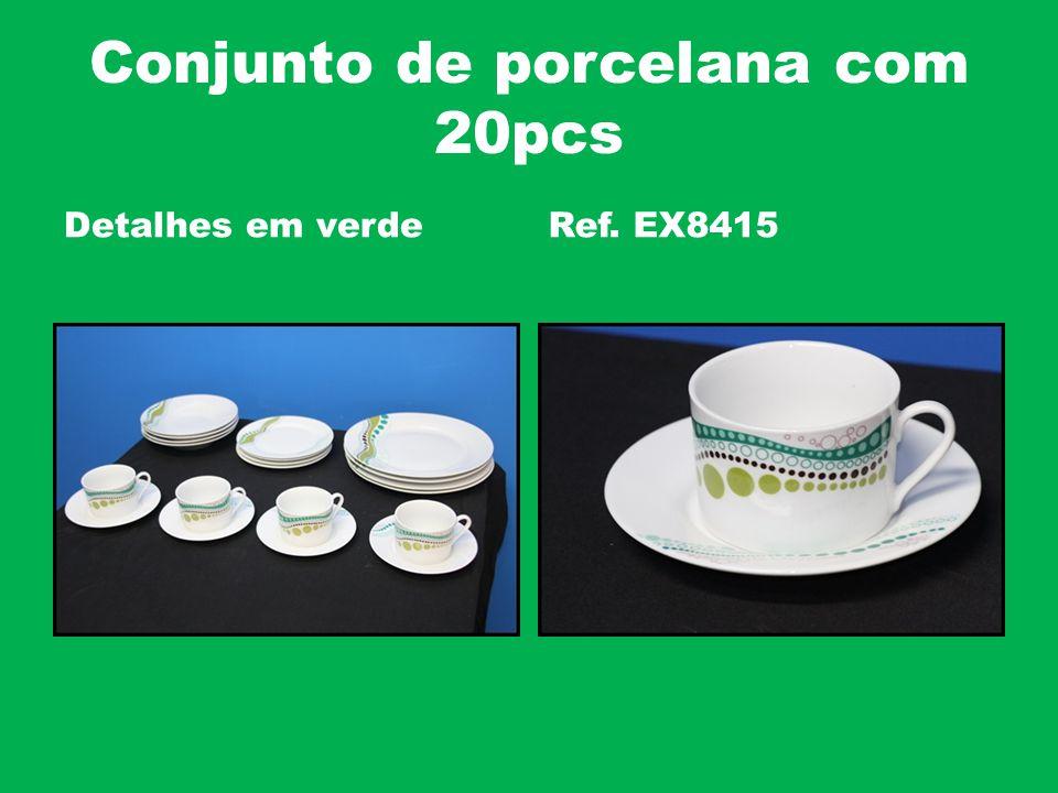 Conjunto de porcelana com 20pcs Detalhes em verdeRef. EX8415