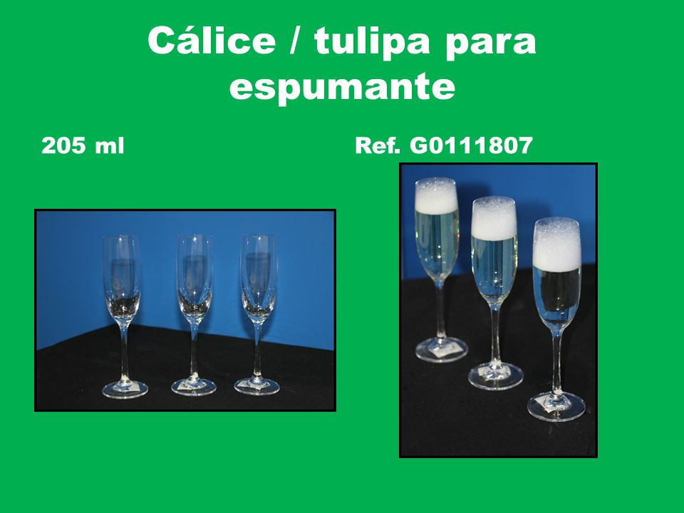 Cálice / tulipa para espumante 205 mlRef. G0111807